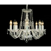 Impex Modra Chandelier - 8 Light, Polished Chrome