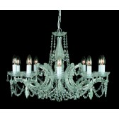 Impex Marie Theresa Chandelier - 10 Light, Polished Chrome