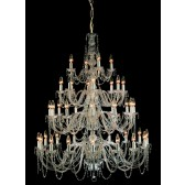 Impex Modra Chandelier - 40 Light, Polished Chrome