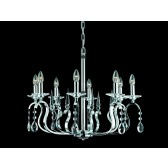 Impex Rhinestone Chandelier - 8 Light, Polished Chrome