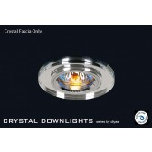 Diyas Clear Crystal Round Downlight (Rim Only)