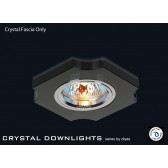 Diyas Black Crystal Concave Corner Downlight (Rim Only)