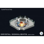 Diyas Clear Crystal Concave Corner Downlight (Rim Only)