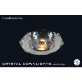 Diyas Clear Crystal Hexagonal Downlight (Rim Only)