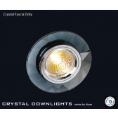 Diyas Black Crystal Chamfered Round Downlight (Rim Only)