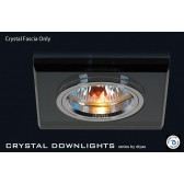 Diyas Black Crystal Square Downlight (Rim Only)