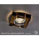 Diyas Square Crystal Downlight Bronze (Rim Only)
