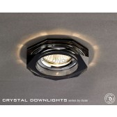 Diyas Hexagon Crystal Downlight Black (Rim Only)