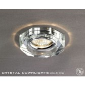 Diyas Hexagon Crystal Downlight Chrome (Rim Only)