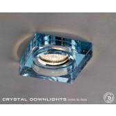 Diyas Square Bubble Crystal Downlight Aqua (Rim Only)