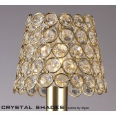 Diyas Clip On Shade French Gold/Crystal