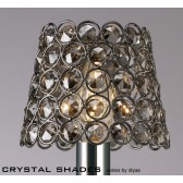 Diyas Clip On Shade Black Chrome/Smoked Crystal
