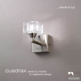 Cuadrax Switched Wall Lamp 1 Light Polished Chrome