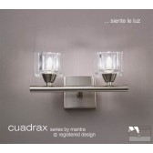 Cuadrax Switched Wall Lamp 2 Light Polished Chrome