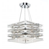 Cube 5 Light Pendant Polished Chrome