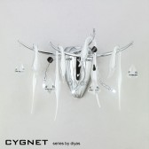 Diyas Cygnet Wall Lamp 3 Light Polished Chrome/White