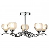 Cynthia Semi Flush Ceiling Light 5 Light