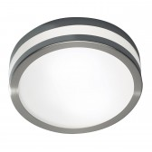 Cyro Flush Large Satin Steel Led IP44