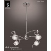 Dali Telescopic Pendant Round 4 Lights Polished Chrome