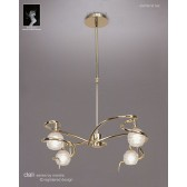 Dali Telescopic Pendant Round 4 Lights Polished Brass