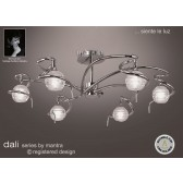 Dali Semi Ceiling 6 Lights Polished Chrome