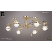 Dali Semi Ceiling 6 Lights Polished Brass