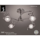 Dali Semi Ceiling 4 Lights Polished Chrome