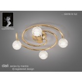 Dali Ceiling Round 4 Lights Polished Brass