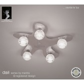 Dali Flush Ceiling 5 Lights Polished Chrome