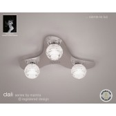 Dali Flush Ceiling 3 Lights Polished Chrome