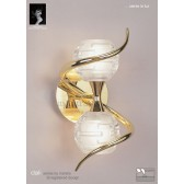 Dali Switched Wall Lamp 2 Lights Polished Brass