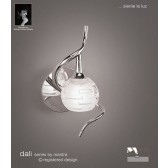Dali Switched Wall Lamp 1 Light Polished Chrome