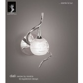 Dali Wall Lamp 1 Light Polished Chrome