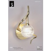 Dali Switched Wall Lamp 1 Light Polished Brass