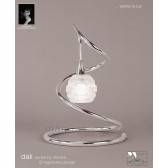 Dali Table Lamp 1 Light Polished Chrome