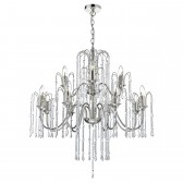 Daniella 12 Light Pendant Polished Nick Alum Rods