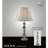Diyas Dana Table Lamp 1 Light Polished Chrome/Crystal