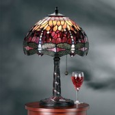 Interiors1900 Red Dragonfly Medium Table Lamp