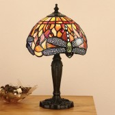 Interiors1900 Dragonfly Flame Small Table Lamp