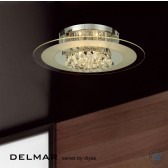 Diyas Delmar Flush Round 6 Light Polished Chrome/Crystal