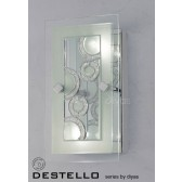 Diyas Destello Wall/Ceiling 2 Light Rectangle With Circle Pattern Polished Chrome/Crystal