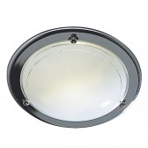 Disc Flush Ceiling Light - Chrome
