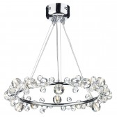 Dixie Ceiling Pendant - 12 Light, Polished Chrome