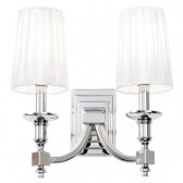 Domina Nickel Wall Light - Double