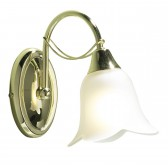 Doublet Wall Light (Switched) - 1 Light Brass Plated