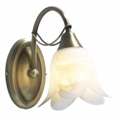 Doublet Wall Light (Switched) - 1 Light Antique Brass
