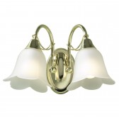 Doublet Wall Light (Switched) - 2 Light Brass Plated