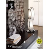 Duna Table Lamp 2 Light Polished Chrome. (E27 Lamp holder version).