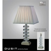 Diyas Dusit Table Lamp 1 Light Polished Chrome/Crystal