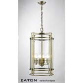 Diyas Eaton Pendant 4 Light Antique Brass